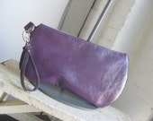 Tori wristlet in purple patent leather
