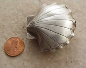 Destash, Hill Tribe Silver Shell Bead, Large, 50mm