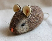 Mouse Plush Wool - Pocket Mouse - CoCo Tweed