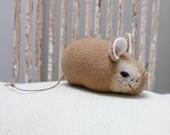 Mouse Plush Wool - Pocket Mouse - Sandy Bottom