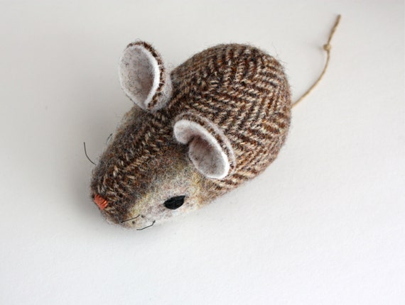 Mouse Plush Wool - Pocket Mouse - French Toast