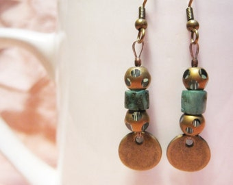 Vermont Dreaming... Extreme Decaf Earrings .. FREE U.S. SHIPPING