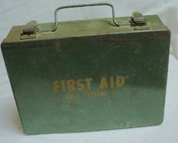Vintage Bell System C First Aid Box with Contents