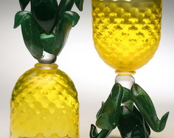 Pineapple Goblets - Hand Blown Glass