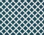 New 18x18 inch Designer Handmade Pillow Case in Bamboo pattern, thai blue on white