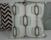 THREE New 18x18 inch Designer Handmade Pillow Cases