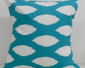 New 18x18 inch Designer Handmade Pillow Cases in turquoise