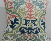 New 18x18 inch Designer Handmade Pillow Case in ikat damask