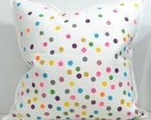 New 20x20 inch Designer Handmade Pillow Case with hand painted confetti