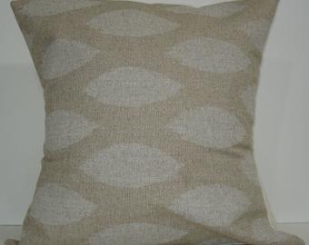 New 18x18 inch Designer Handmade Pillow Cases in white ikat.