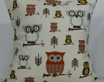 New 18x18 inch Designer Handmade Pillow Case in owl patter