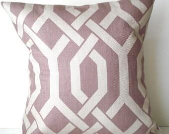 New 18x18 inch Designer Handmade Pillow Cases in rose and stone lattice, trellis
