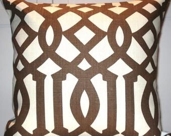 Kelly Wearstler Imperial Trellis in Java 18x18 pillow cover