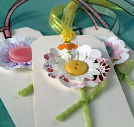 Flower Tags - Spring Breeze