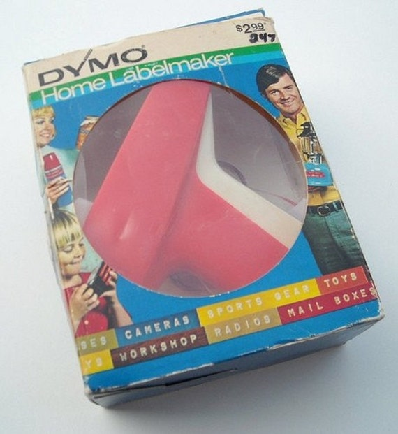 Vintage 70s Dymo Label Maker With Box