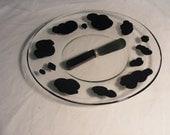 cow print cheese plate
