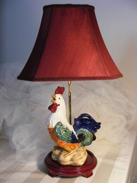Unique Rooster Table Lamp One Of A Kind Perfect For A