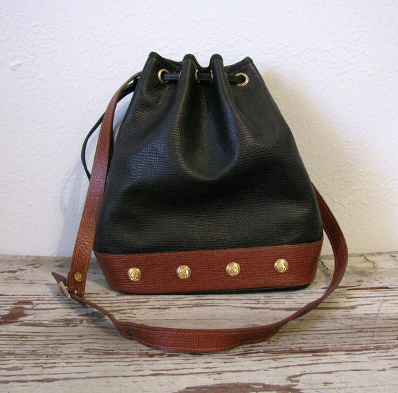 RESERVED - Vintage CLAUDIA Studded Bucket Bag