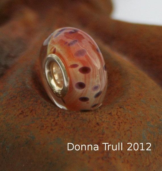 Big Hole Bead-BH 8- Handmade Boro Lampwork Bead-fits Troll and Pandora