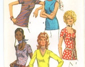 Vintage 1971 Set of 5 Blouses Sewing Pattern Size 14 Bust 36 s9365
