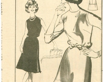 Advance 9929 Vintage 60s Dress Sewing Pattern Size 14 Bust 34