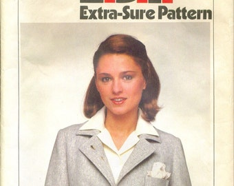 Vintage 1978 Blazer Jacket Sewing Pattern Plus Size 16 18 20