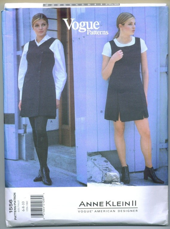 Vogue 1556 Anne Klein II Mini Jumper and Blouse Sewing Pattern 6 8 10