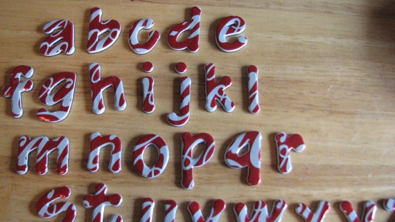 Recycled Coke Can Alphabet - Magnetic-Lowercase