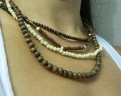 Summer  Sale Wood Natural Seed Beads Necklace