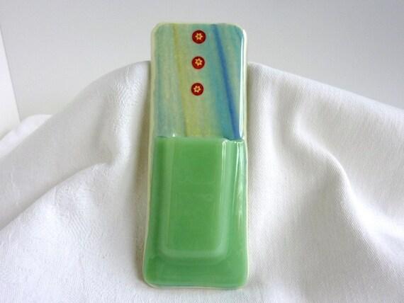 Mint Green Glass Pocket Magnetic Vase
