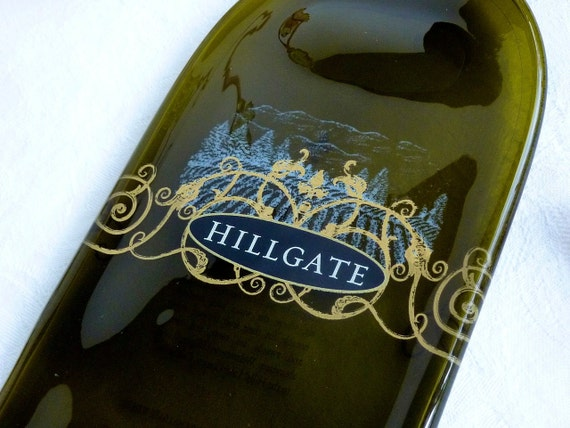 Half-Price Slumped Hillgate wine bottle cheese plate
