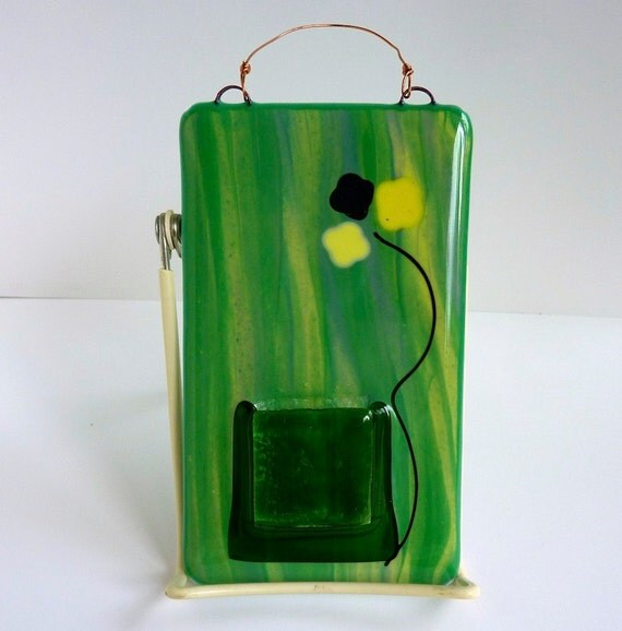 Glass Wall Pocket Vase