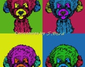 Andy Warhol style Portugese Water dog 8x10 print