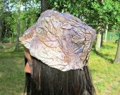 end of summer SALE // vintage floral hat // light pink & purple mixture // bonnet / orig 24.00