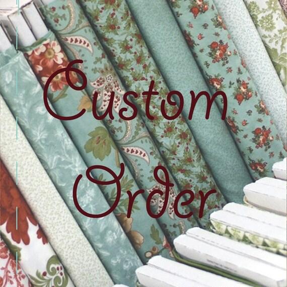 Kona Cotton Custom Order for Tacha