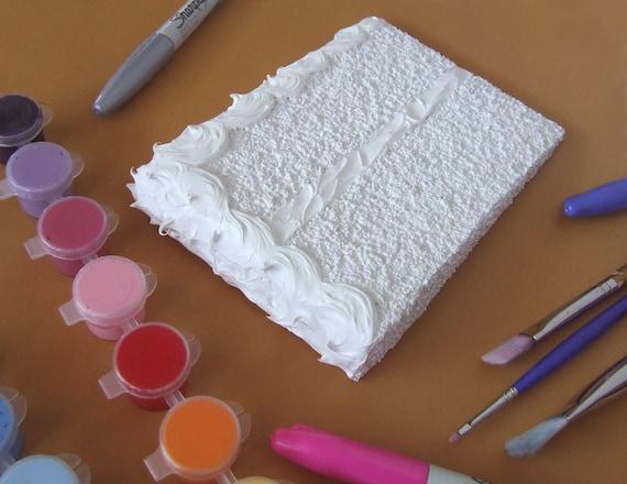 DIY - Blank Cake Mail Card. custom postcard.