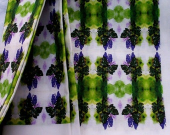 One yard Quilting Weight Cotton   Yarrow Collection  Custom Grape designed fabric