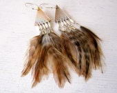 Ethereal Feather And Seahell Earrings