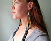 Fringe And Feather Earrings. Ranch Hand