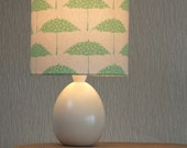 Hand printed Bird Brolly Fabric Lampshade Kit in Mint Green, 20cm