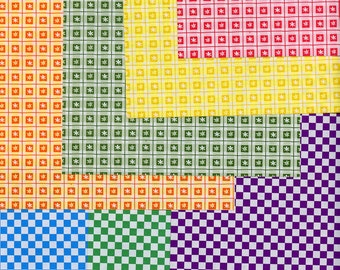 ORIGAMI PAPER CHECKERED Double Sided 28 Sheets 15cm