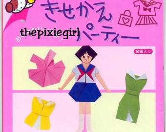 JAPANESE ORIGAMI PAPER Doll Dresses w/ Instructions 15 cm  17.5 cm size