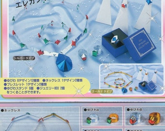JAPANESE ORIGAMI PAPER Jewelry Making Kit with Instructions