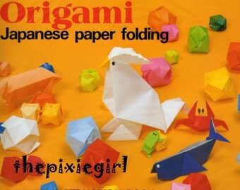 JAPANESE ORIGAMI PAPER Activity booklet With 15cm Mixed Color Papers