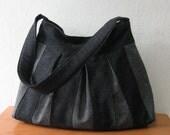 Black and Grey Denim Bag