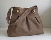 Sale - Brown Hemp/Cotton Bag, shoulder bag, purse, handbag, unique - ARROWS