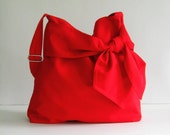 Add 1 more get 10% off - Red Cotton Twill Bag - Ninny