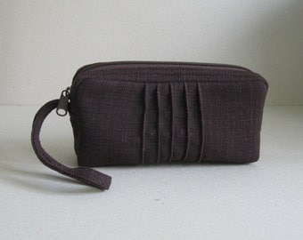 Sale - Choco Brown Hemp/Cotton Pouch