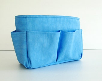 Sale - Bag Organizer - Water Resistant Nylon in Sky Blue- Small