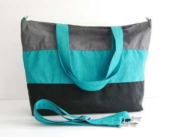Sale - Water-Resistant Tote - Gym bag, Shoulder bag, Diaper bag, Messenger bag, Tote, Women - HAPPY TOTE